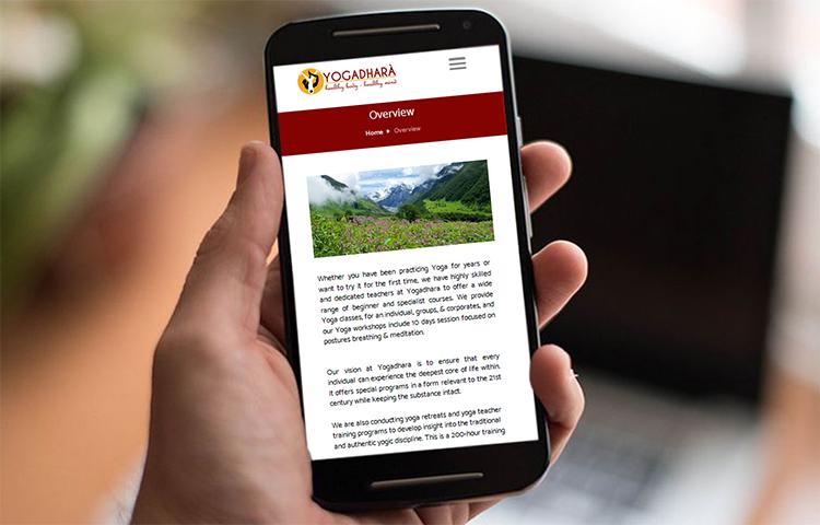 yogadhara responsive website design in dehradun