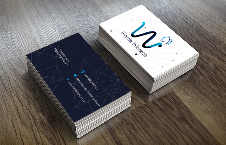 Wattle-infotech-Visiting-Cards designer in dehradun