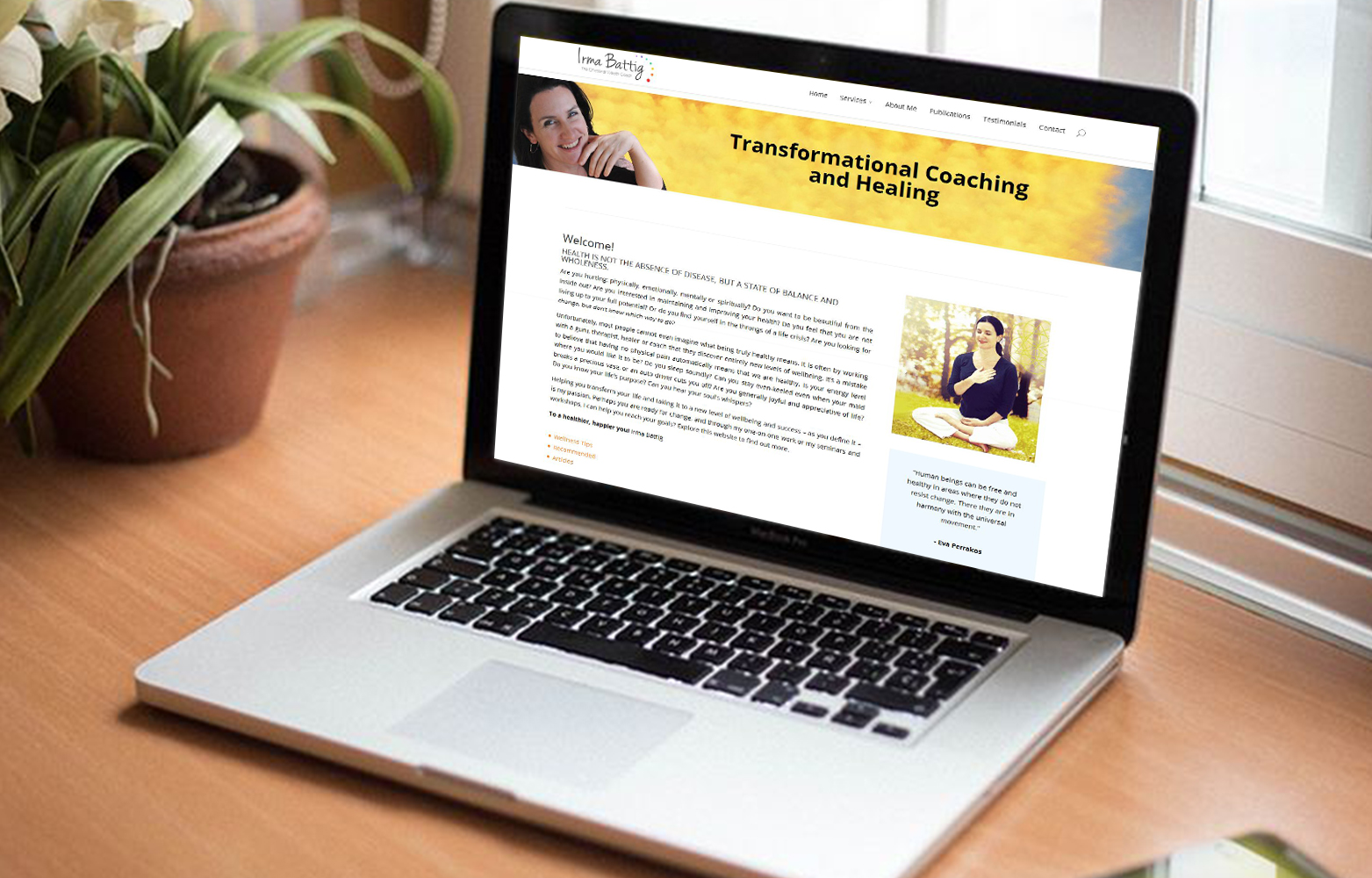 Transformational Coaching and Healing - Website redesign in dehradun