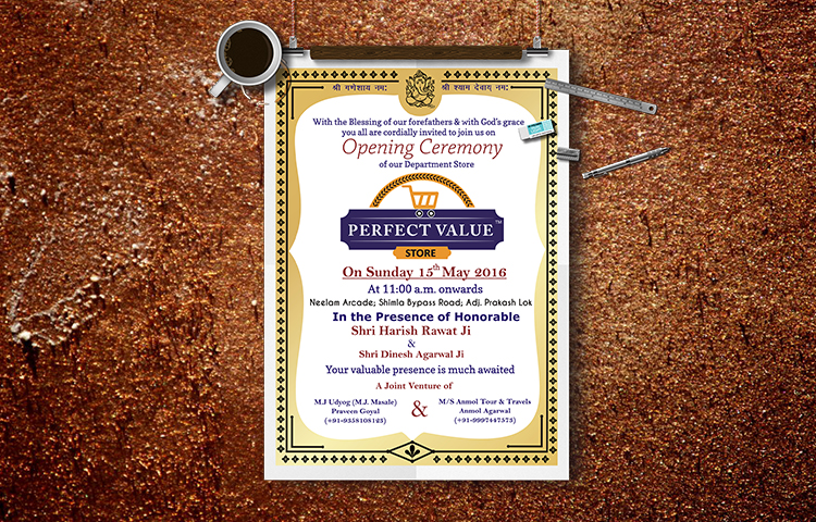 perfect value invitation card design in dehradun