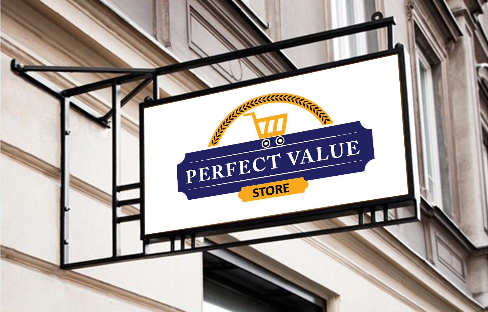 perfect value logo designed in dehradun