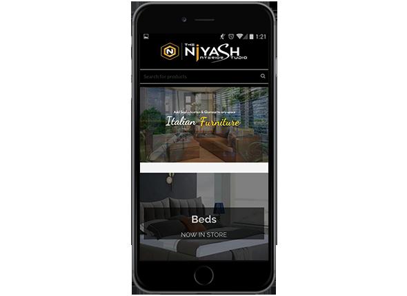 Niyash Studio Ecommerce Website