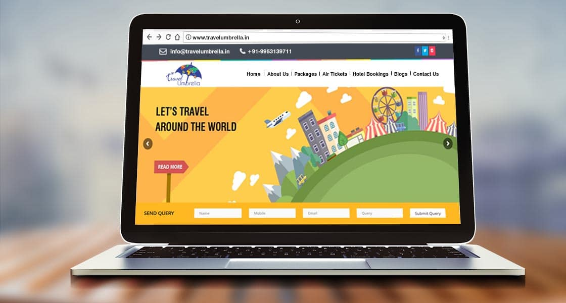 Website Travel Umbrella