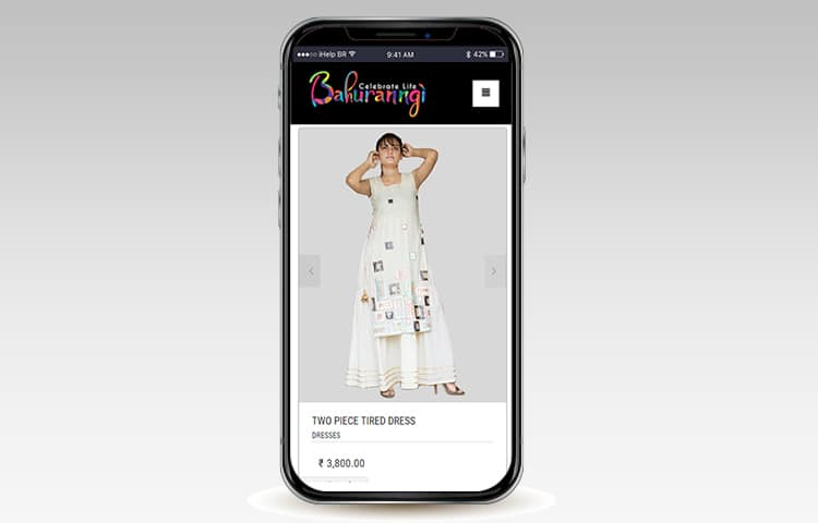Bahuranngi Website Mobile View