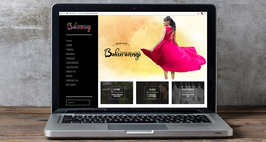 Bahuranngi website Desktop View