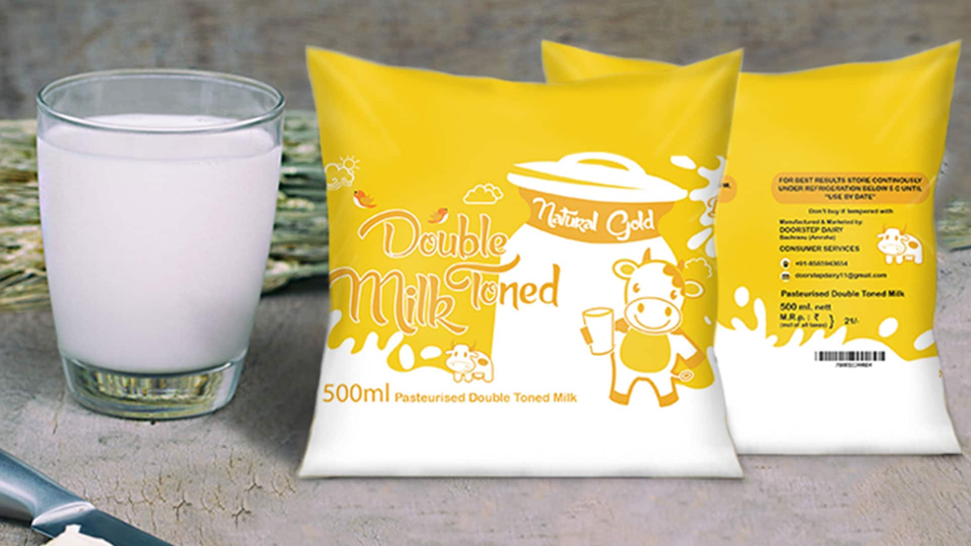 Milk product packaging Design in Dehradun