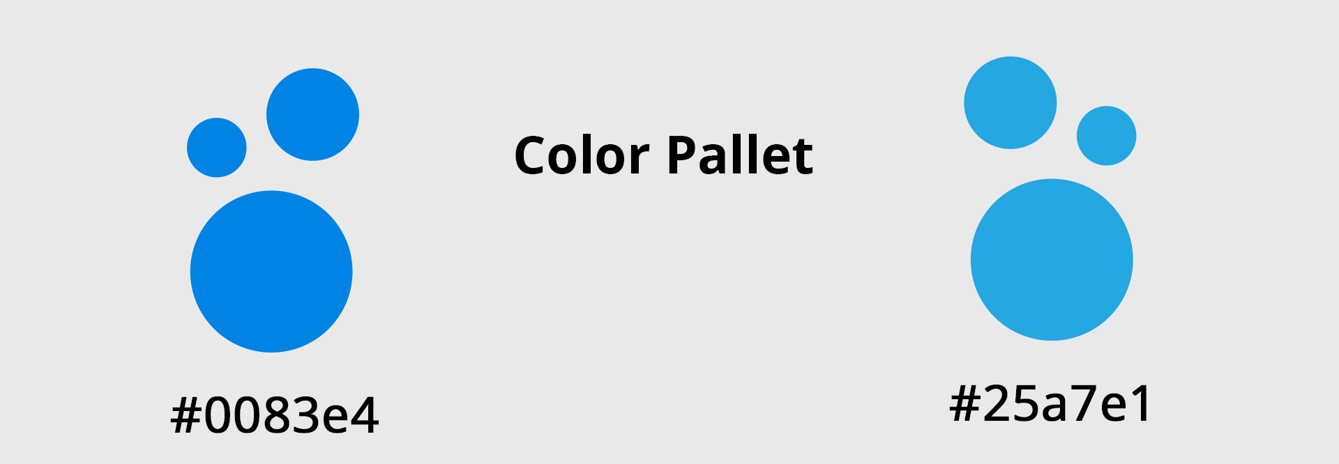 colour pallet for E Pack Website