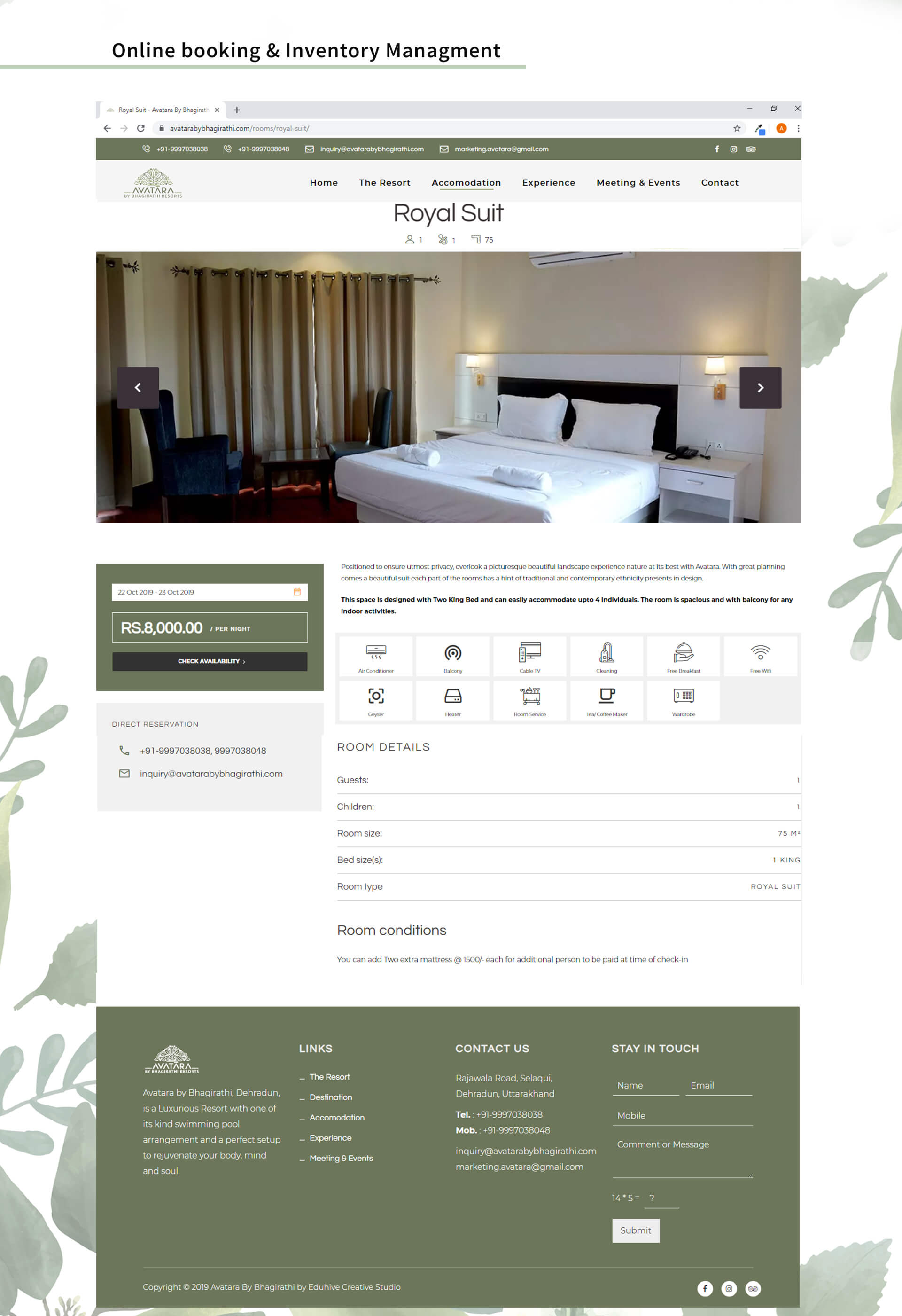 hotel website design service in dehradun
