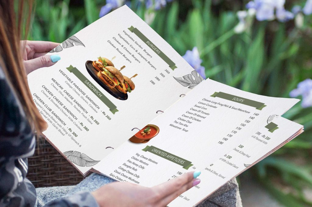 restaurant menu card design service in dehradun