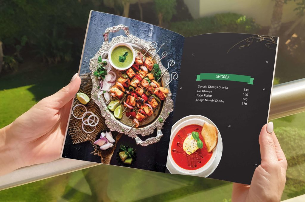 restaurant menu design services in dehradun