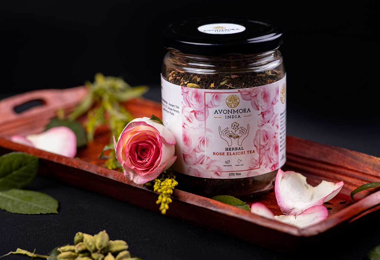 herbal rose elaichi tea